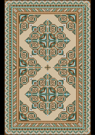 pastel shades: Antique light colored carpet� with pastel shades