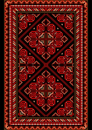 nbsp: Bright carpet in the old style with red and burgundy shades
