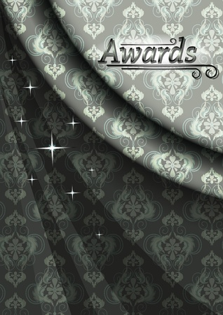 nbsp: Elegant satin poster for celebrations in gray beige colors Illustration