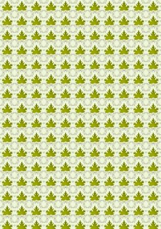nbsp: Seamless background leaves of green leaf grapes  Illustration