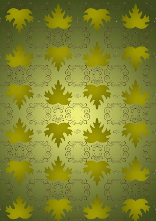 nbsp: Seamless background leaves of green grapes  Illustration