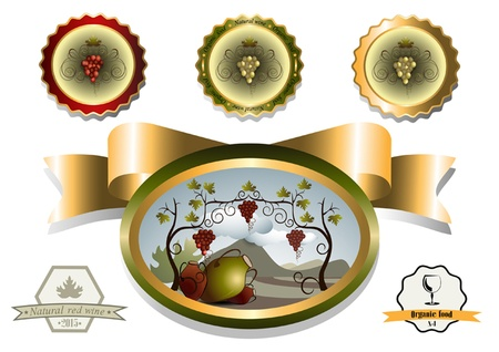 oval  alcohol: Framework labels to beverage from grapes