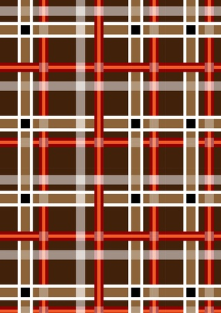intersecting: Mottled brown seamless background with red and white stripes
