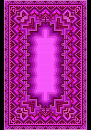 Refined oriental carpet in purple shades Stock Vector - 22010357