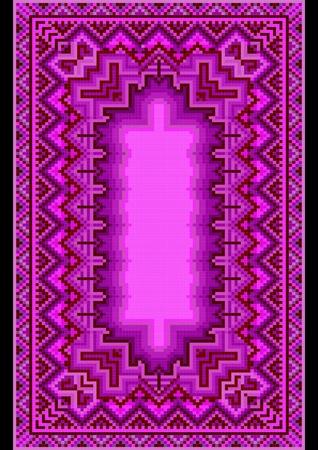 Refined oriental carpet in purple shades Stock Vector - 22010357