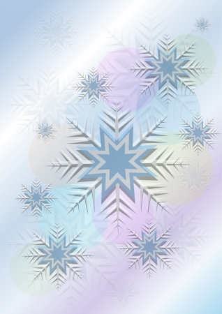 flickering: Flickering background with snowflakes and a circle Illustration