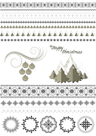 Patterns and borders on the Christmas theme