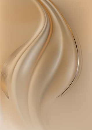 oscillation: Orange and silver curved lines on light brown mesh background
