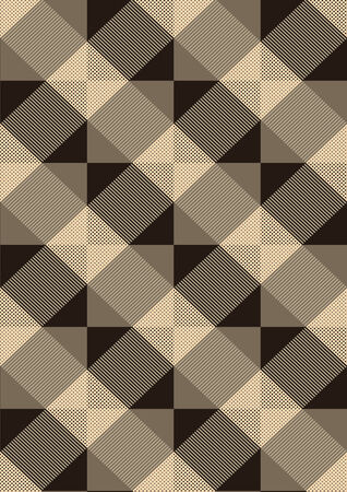Striped brown rhombuses on a light seamless  Vector
