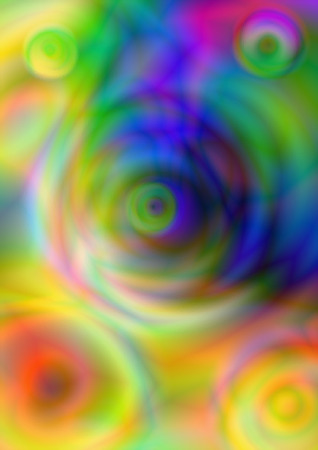 vitreous: Abstract blurry colorful circles on  bright vitreous  motley background Stock Photo