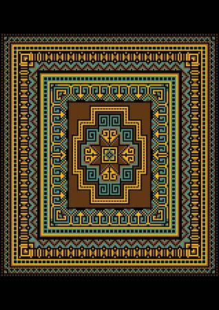motley: Disegno geometrico Motley per il tappeto originale
