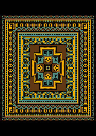 motley: Motley geometric pattern for the original carpet