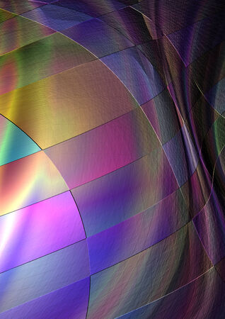convex shape: The iridescent squares collected in abstract background a convex shape Stock Photo