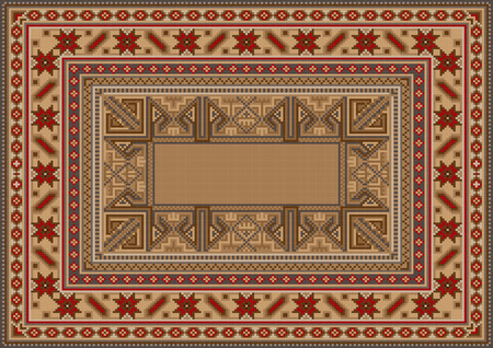 oriental rug: luxurious oriental rug with original pattern