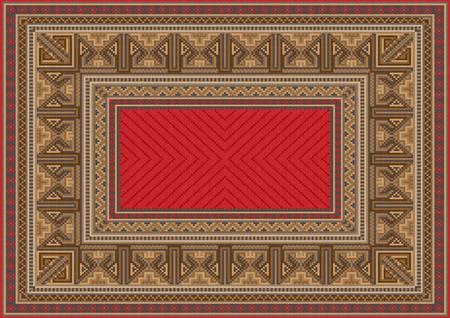 luxurious: luxurious oriental carpet with original pattern Illustration
