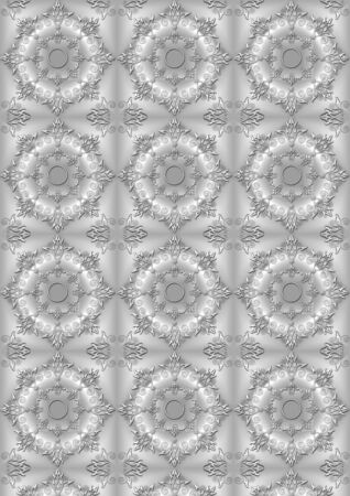 satiny: Gray satiny background with the convex openwork floral pattern