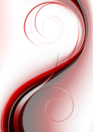 curlicues: Bright red curve covered curlicues on a pink background