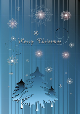 dark blue: Dark blue striped Christmas background with fire and glowing snowflakes.