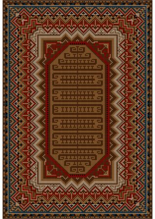 oriental rug: Vintage oriental rug with beige and brown shades