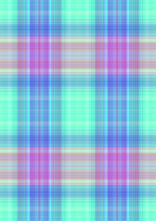 greenish blue: Checkered greenish background with purple,orange and blue stripes