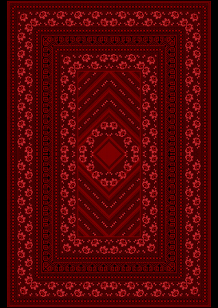 red carpet background: Carpet witha pattern red roses on the border and the middle on a burgundy background