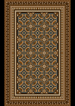 oriental rug: luxurious bright old oriental rug with beige and brown shades