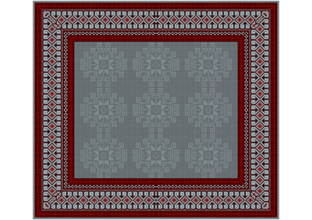 vinous: The delicate pattern of the carpet in gray and vinous shades Illustration