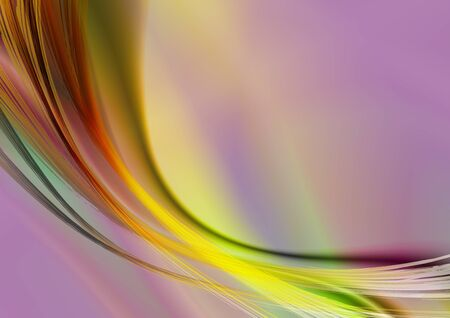 iridescent: Vivid iridescent background with oval strips and curves Stock Photo
