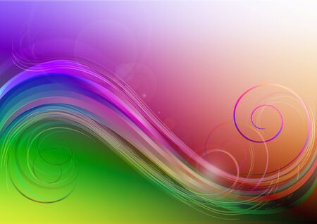 patches: Bright background with colored waves,patches of lightand curls Stock Photo