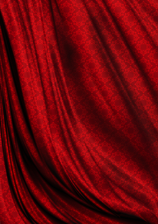 coated: Wavy red satin background coated seamless bright pink pattern Stock Photo