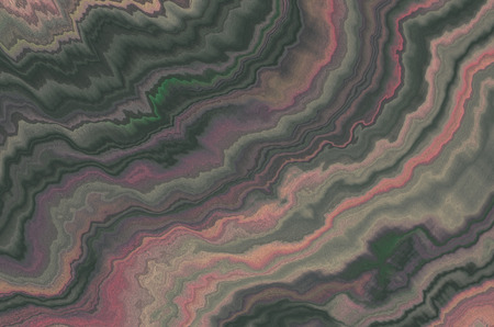 matte: Motley matte zigzag background with green,pink,gray chaotic curved stripes
