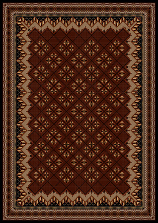 oriental rug: luxurious vintage oriental rug with original pattern in maroon and brown shades