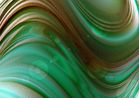 coated: Textured wavy background with green blue shades coated flares and circles