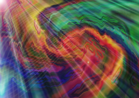 whirling: Abstract bright dark a whirling zigzag blue green background with coated transparent rays Stock Photo