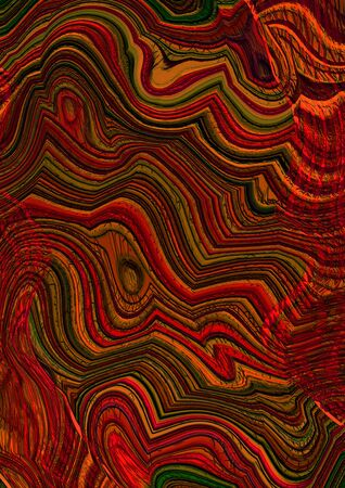 motley: Abstract motley striped zigzag background in red and brown colors