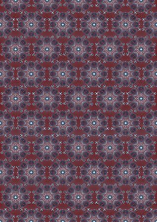 maroon: Maroon seamless background with an oval vintage by gradient blue ornament