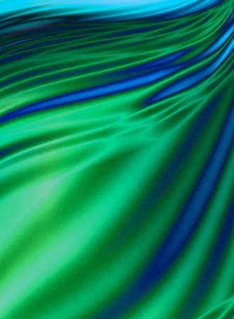smudges: Abstract green wavy background with blue wavy smudges