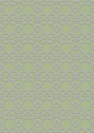 greenish: Seamless light colored floral pattern on greenish background