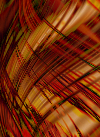 Abstract orange wavy background coated chaotic black with red stripes and waves