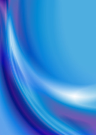 Abstract blue falling curved beam on luminous background with bluish purple shades