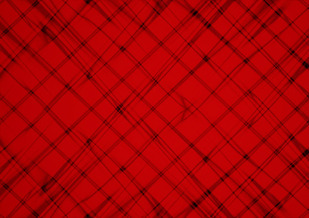 unevenly: Abstract red background covered are unevenly intersecting blurred black thin lines Stock Photo