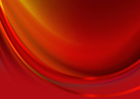 concave: Abstract red background with convex the concave wave covered satin red stripes