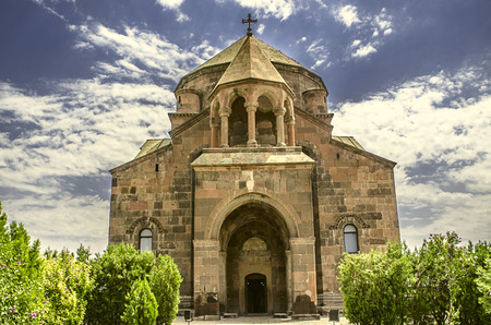 Facade of the Church  built in the seventh century at honor Great Martyr Hripsime