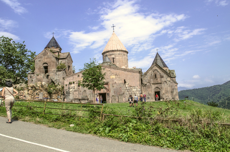 Dilijan, Armenia: View of the entire monastery complex Goshavank from the road in the  of gosh located near the town of Dilijan 版權商用圖片