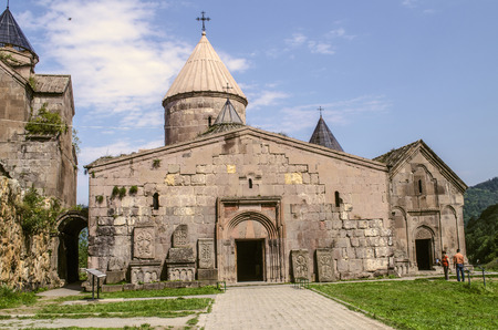 Dilijan, Armenia, Two-storey narthex with a visible dome of the Church of Gregory the Illuminator,Goshavank Monastery in the village of Gosh, near the town of Dilijan
