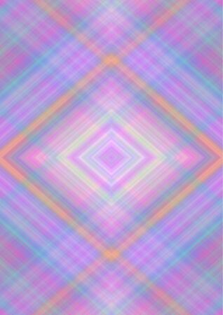 Abstract background in pastel shades  with rhomboid patterns obtained from the intersection of pink, purple, blue, yellow, orange, beige  stripes and lines