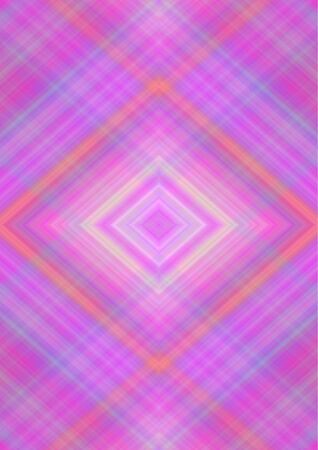 Monochrome abstract background with rhombuses patterns derived from intersecting of crimson,orange,bluish  and yellow stripes and lines