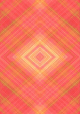 Monochrome abstract background with rhombuses patterns derived from intersecting of orange and yellow stripes and lines
