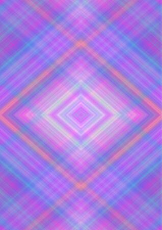 Abstract bright background with rhomboid patterns obtained from the intersection of  purple, blue, pink, orange, beige  stripes and lines