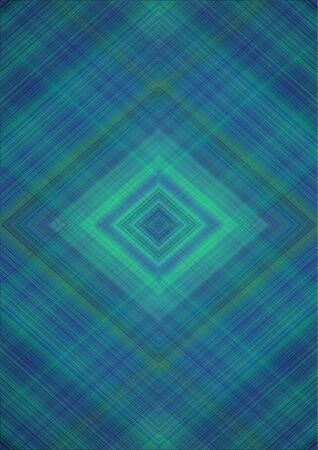 Monochrome elegant abstract background with rhombuses patterns derived from intersecting of green,blue and black stripes and lines Banque d'images